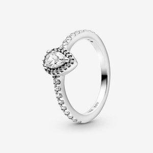 🔥PANDORA Classic Teardrop Halo Ring